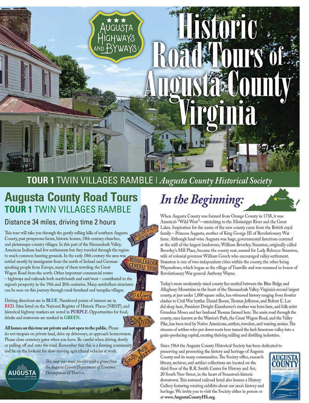 Take the Augusta County Historical Society Driving Tour
